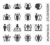 people and group icon set... | Shutterstock .eps vector #1513646084
