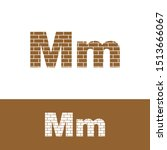 Letter M Simple Logo Icon  With ...