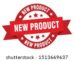 new product ribbon. new product ... | Shutterstock .eps vector #1513669637