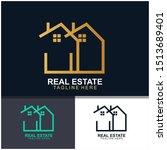 real estate logo design. ... | Shutterstock .eps vector #1513689401
