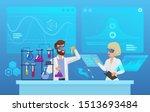 scientific futuristic... | Shutterstock .eps vector #1513693484