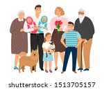 big family. happy families... | Shutterstock . vector #1513705157