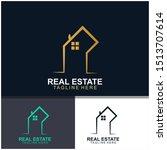 real estate logo design. ... | Shutterstock .eps vector #1513707614