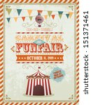 vintage fun fair and carnival... | Shutterstock .eps vector #151371461