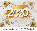 2020 happy new year background. ... | Shutterstock .eps vector #1513724141