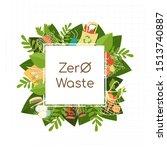 zero waste background with flat ...   Shutterstock .eps vector #1513740887