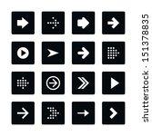 icon set 01 arrow sign. white... | Shutterstock .eps vector #151378835