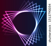blue and purple retro neon... | Shutterstock .eps vector #1513790054