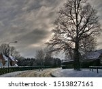 Snow On Road Through Chobham...