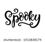 spooky. halloween party poster... | Shutterstock .eps vector #1513838174