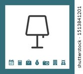 lamp icon for web and mobile