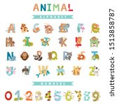 whole english alphabet with... | Shutterstock .eps vector #1513858787