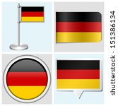 germany flag   set of various... | Shutterstock . vector #151386134