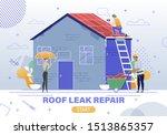 house emergency repair service... | Shutterstock .eps vector #1513865357