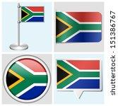 south africa flag   set of... | Shutterstock . vector #151386767