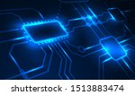 electric circuit technology... | Shutterstock .eps vector #1513883474