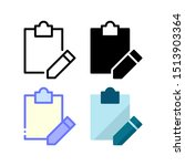 clipboard edit icon. with...