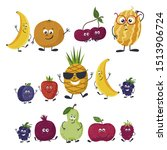 vector fruits isolated in a... | Shutterstock .eps vector #1513906724