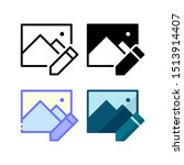 image edit icon. with outline ...