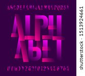 abstract alphabet font. two... | Shutterstock .eps vector #1513924661