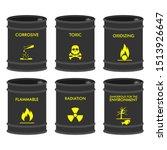 set of chemical vector barrels. ... | Shutterstock .eps vector #1513926647