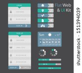 ui set of  flat design