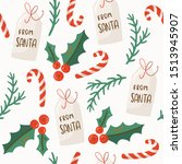 christmas seamless pattern with ... | Shutterstock .eps vector #1513945907