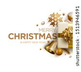 merry christmas and new year... | Shutterstock .eps vector #1513946591