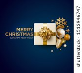 merry christmas and new year... | Shutterstock .eps vector #1513946747