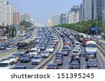 Beijing Aug. 24. Traffic Jam A...