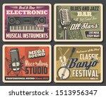 music recording studio and... | Shutterstock .eps vector #1513956347