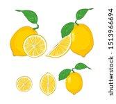 lemon icon collection  lemon... | Shutterstock .eps vector #1513966694