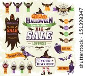 halloween sale design elements | Shutterstock .eps vector #151398347