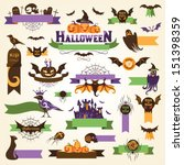 set of halloween design... | Shutterstock .eps vector #151398359