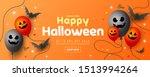 happy halloween sale  party... | Shutterstock .eps vector #1513994264