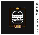 burger linear logo. design of...   Shutterstock .eps vector #1513997651