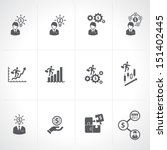 Business & Finance & Investment Icons set  - stock vector