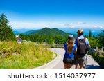 People Hiking On Summer...