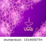 happy diwali with luminous...   Shutterstock .eps vector #1514050754