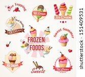 ice cream labels and badges... | Shutterstock .eps vector #151409531