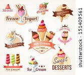 ice cream labels and badges...