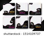 set of editable post template...   Shutterstock .eps vector #1514109737