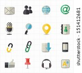 communication and internet icons | Shutterstock .eps vector #151412681