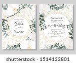vector floral template for... | Shutterstock .eps vector #1514132801