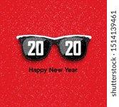 black hipster glasses on... | Shutterstock .eps vector #1514139461