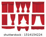 stage red curtains realistic... | Shutterstock .eps vector #1514154224