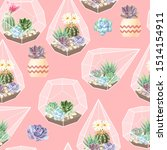 high detail succulent and... | Shutterstock .eps vector #1514154911
