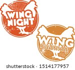 chicken wing night and wing... | Shutterstock .eps vector #1514177957