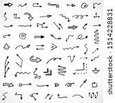 vector set of hand drawn arrows | Shutterstock .eps vector #1514228831
