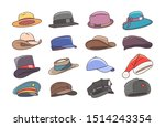 hats and headwears. hat images... | Shutterstock .eps vector #1514243354